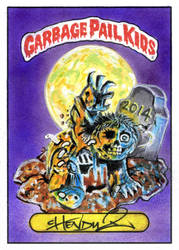 2014 Garbage Pail Kids dead TED - Hand-Pain-TED by Chenduz