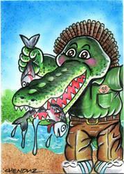 2014 Garbage Pail Kids OS3 Ali Gator sketch card