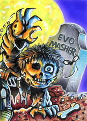 Garbage Pail Kids OS1 Dead TED Sketch Card