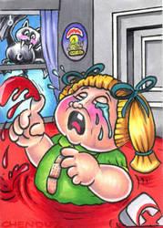 2014 Garbage Pail kids OS8 Bloody Mary sketch card