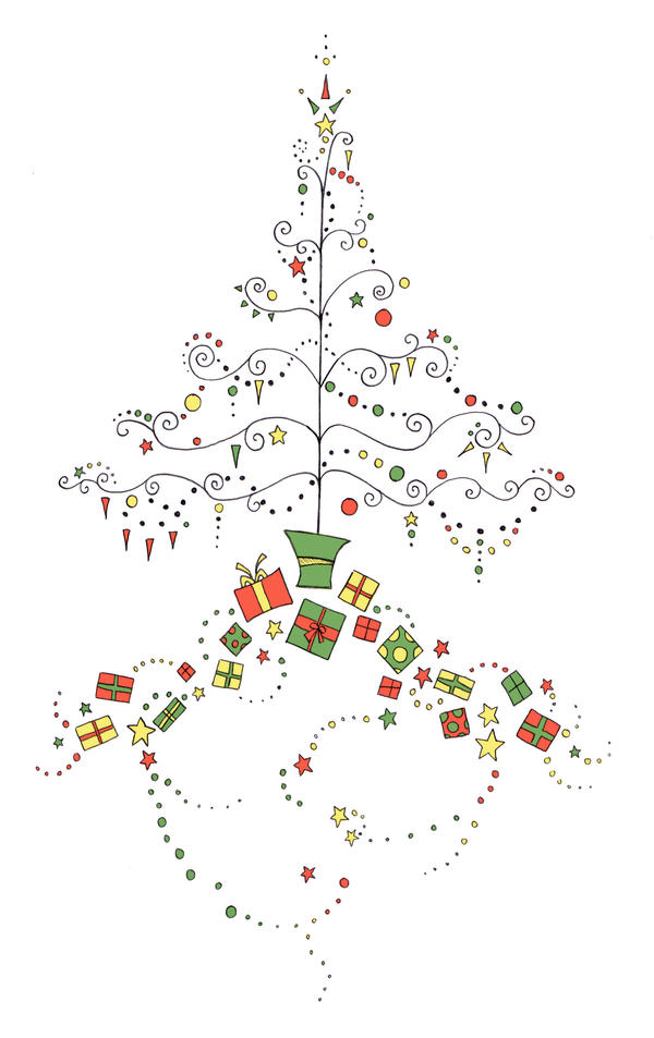 card designs christmas tree by crashingwave - Christmas Tree Card