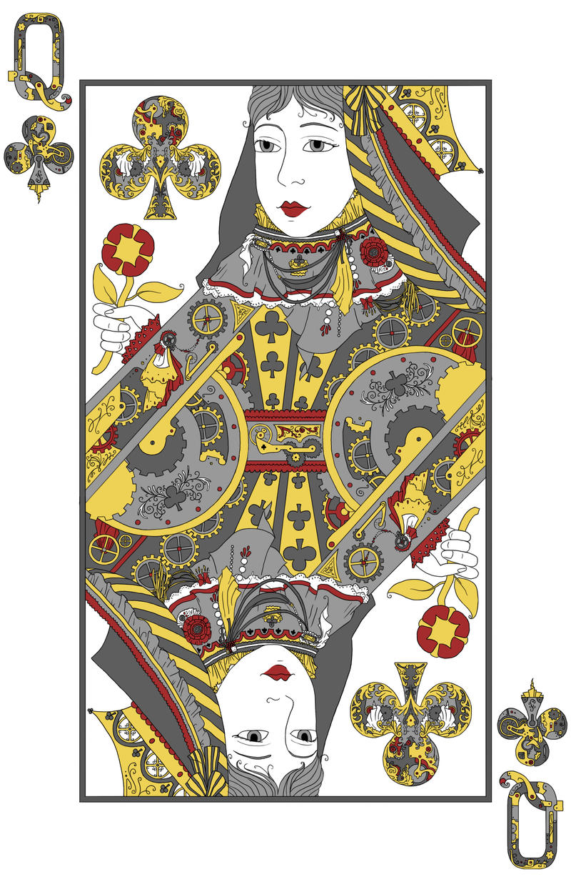 Queen of Clubs by crashingwave