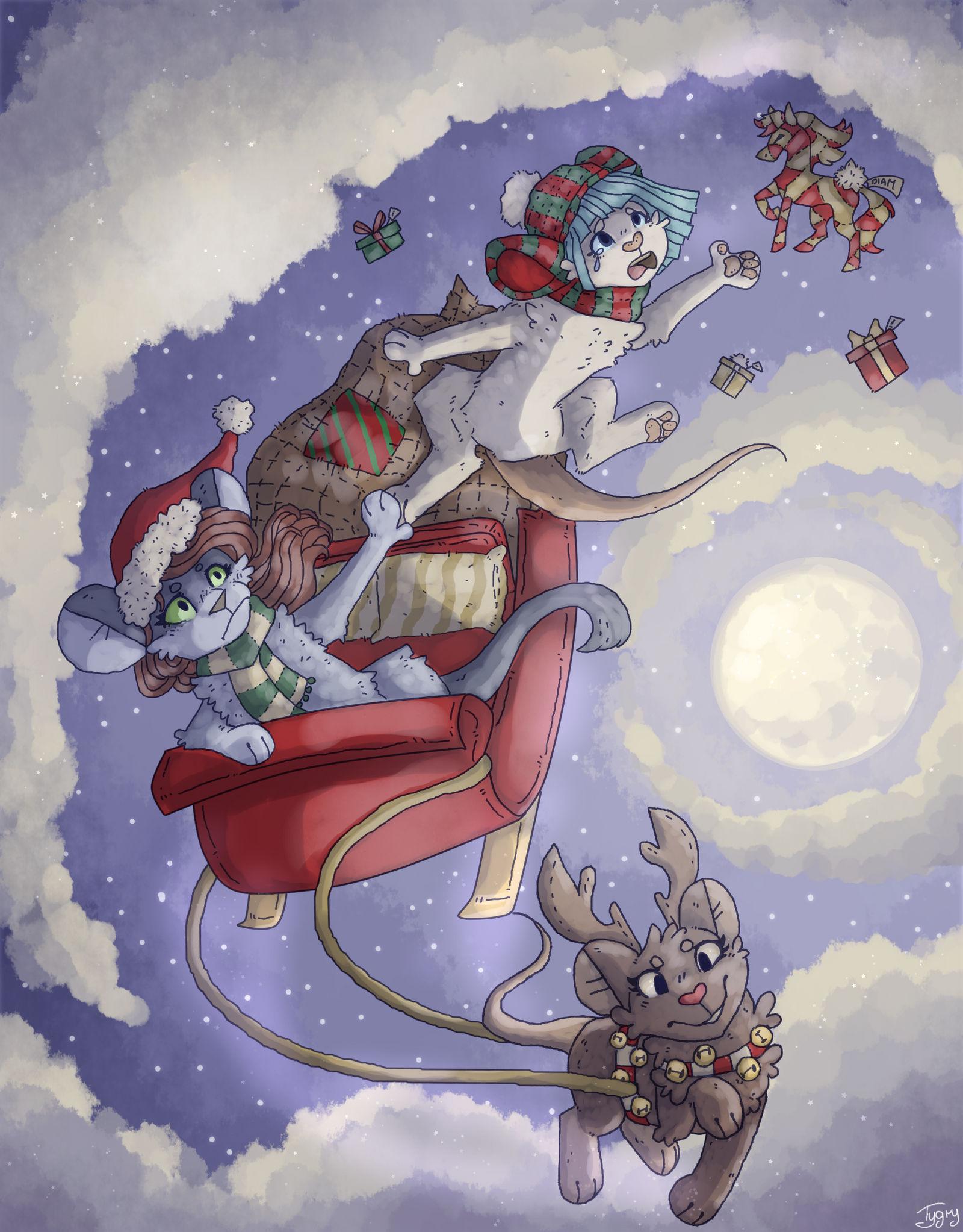 christmas mice by Tygruni