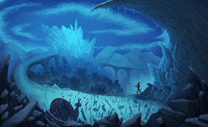 background ice by artistincompre