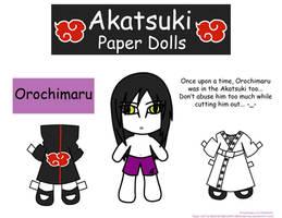 Orochimaru Paper Doll by Malindachan