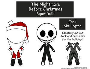 Jack Skellington Paper Doll