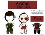 Zuko Paper Doll