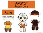 Aang Paper Doll
