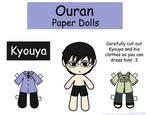 Kyouya Paper Doll