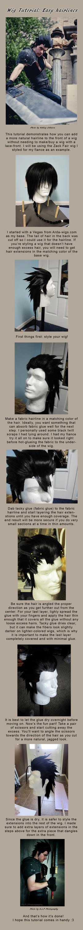 Wig Hairline Tutorial by Malindachan