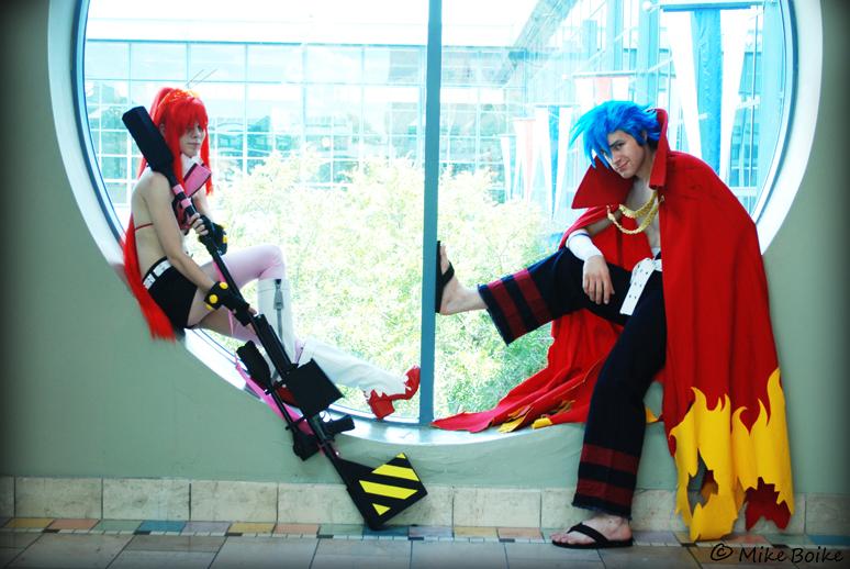 San japan: Yoko and Kamina by Malindachan