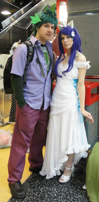 Acen 2012: Spike and Rarity by Malindachan