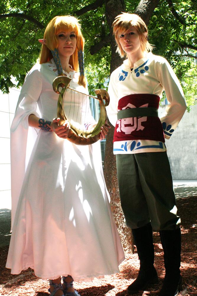 Fanime 2012: Zelda and Link by Malindachan