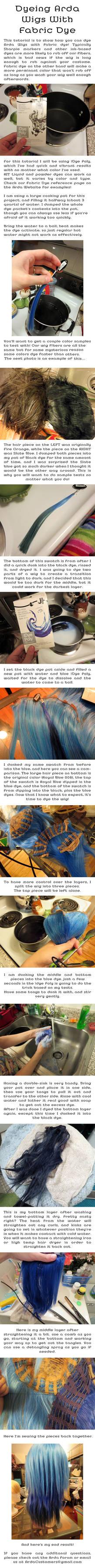 Wig Dye Tutorial