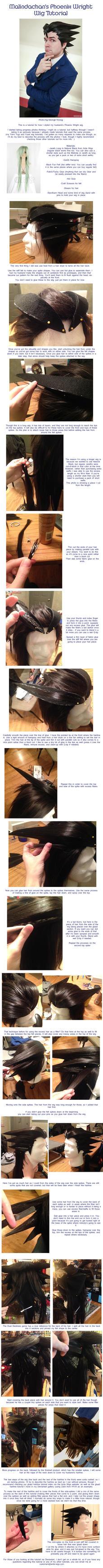 Phoenix Wright Wig Tutorial by Malindachan