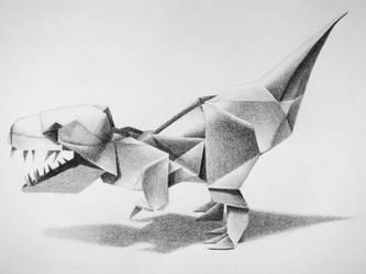 Origami T-Rex by MissFunCookie