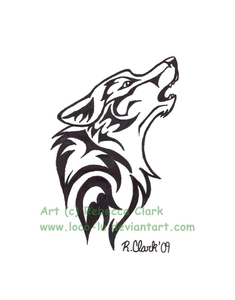 Tribal Wolf Tattoo Designs