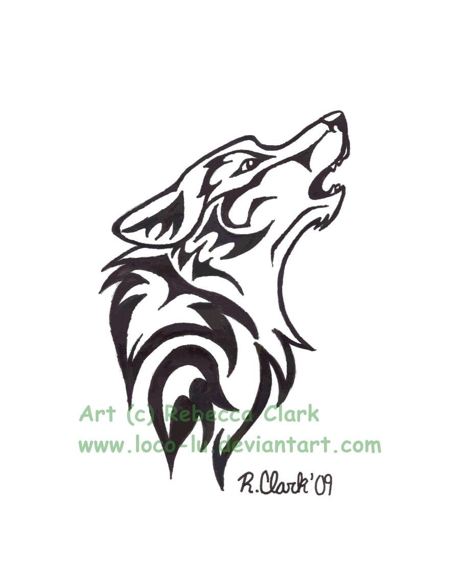 Lone Wolf Tattoo Designs Howl tattoo design by loco-lu