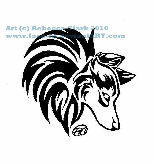 Wolf Head Tattoo Doodle by Loco-Lu