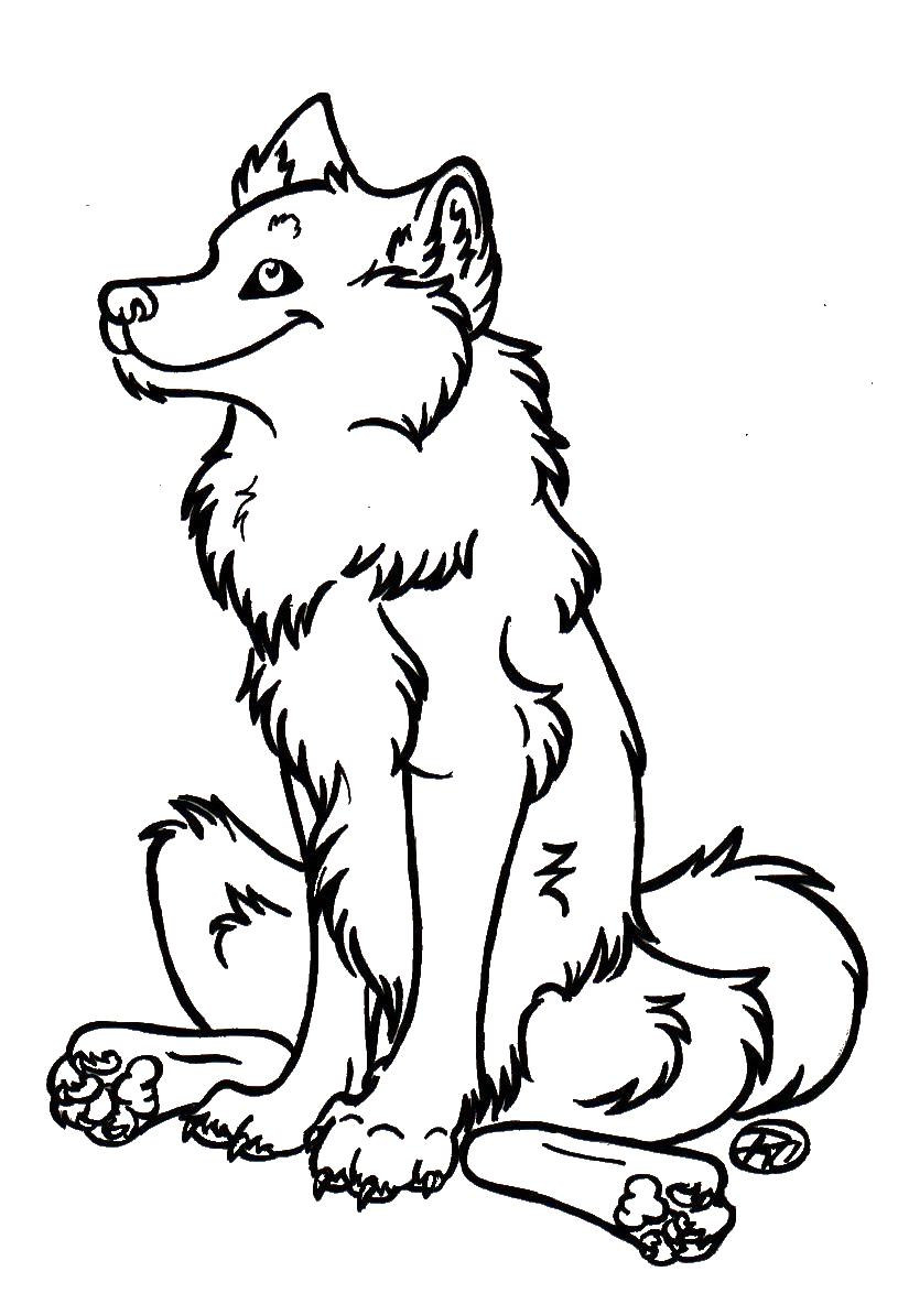 happy wolf lineart by loco lu on deviantart