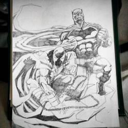 Dark Knights: Spawn and Batman by apvmiciano