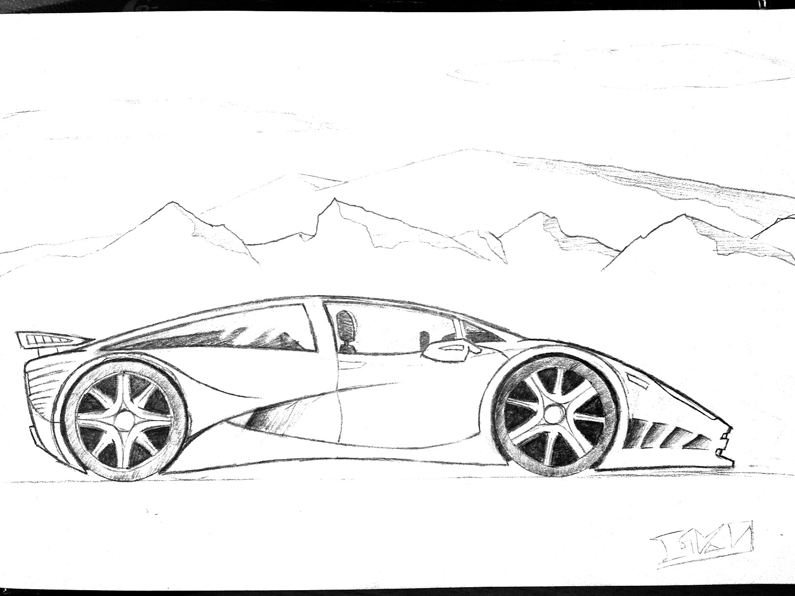 sports car drawing by gkn112 sports car drawing by gkn112 - Easy Sports Drawings