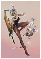 Riven and Teemo by jodybom