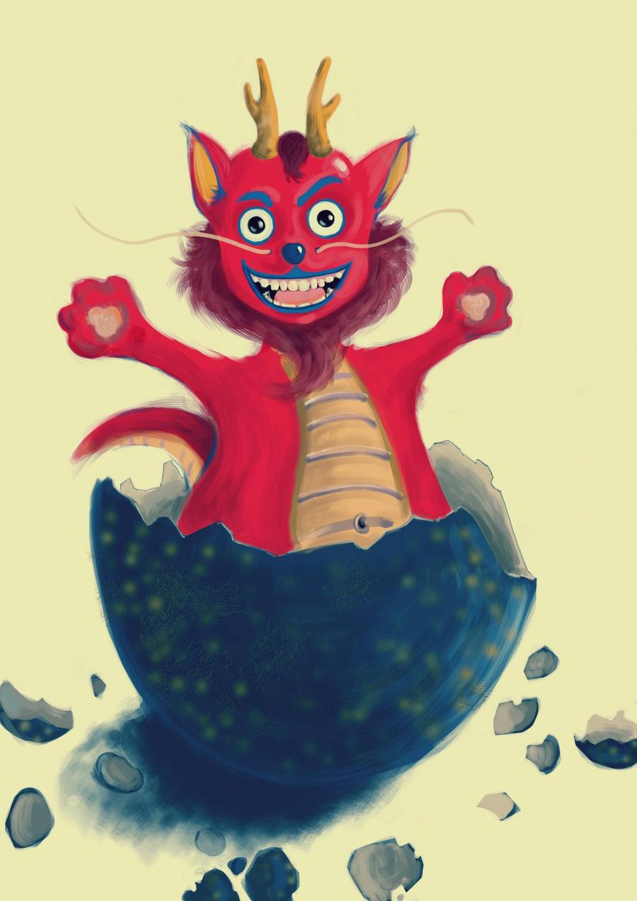 Cute Dragon by NinjaKuma