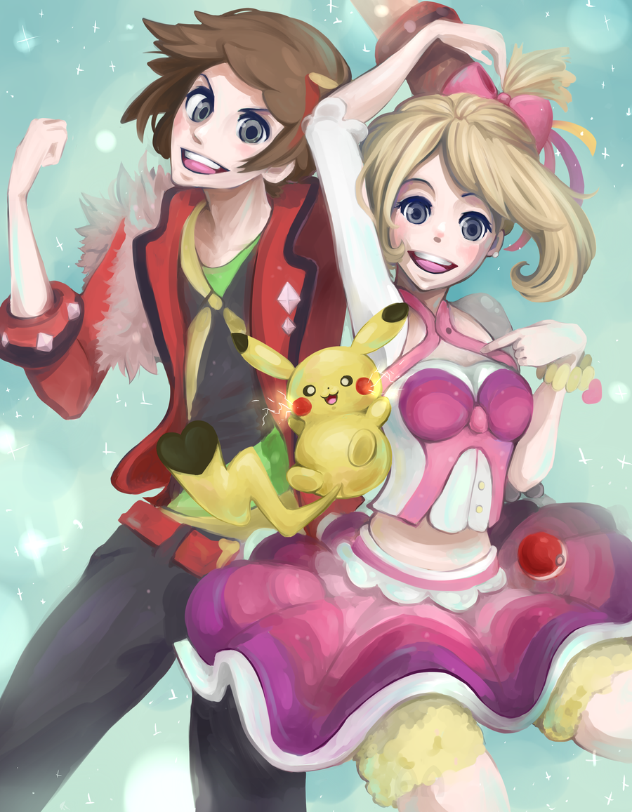 Pokemon Contest May Brendan And Pikachu By Mochiibon