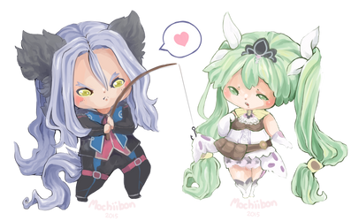 Dylas and Frey - Rune Factory 4 by Mochiibon