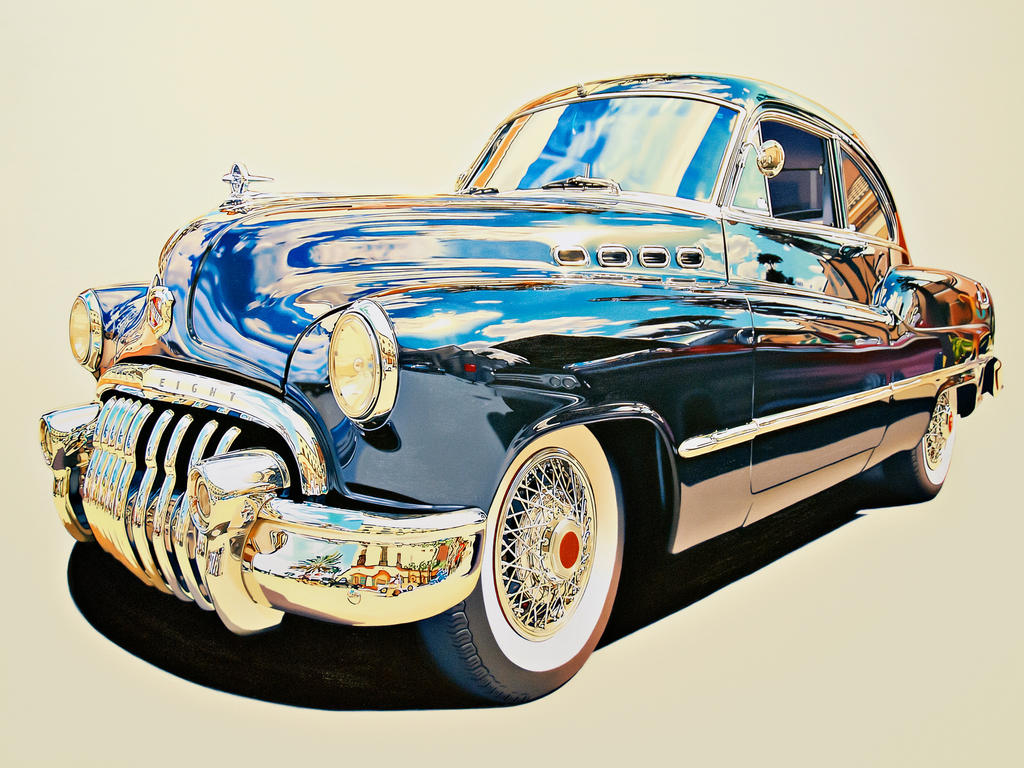classic car oil on canvas 1303x89 2011 by dlcodlf