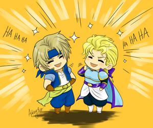 World of Final Fantasy - Locke and Edgar