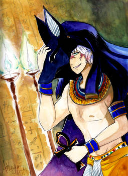 .:Mystic Messenger Mythology 2 - Saeran (Anubis):.
