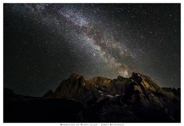 The Marmolada by Night. by JamesRushforth