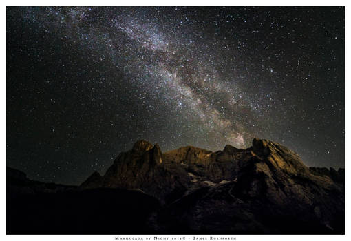 The Marmolada by Night.