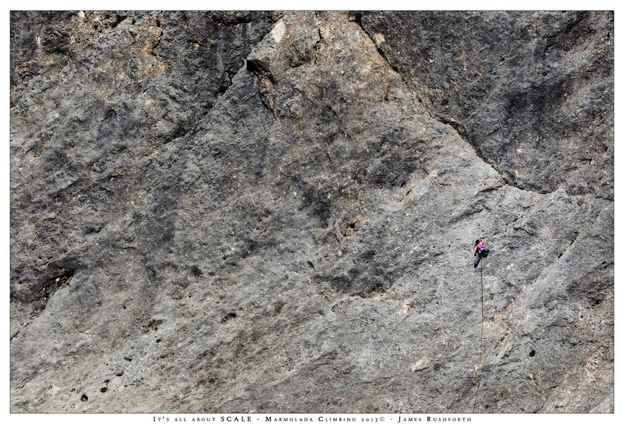 It's all about the scale climbing on the Marmolada by JamesRushforth