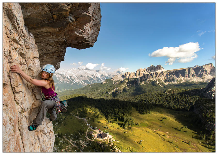 Climbing on Torre Grande by JamesRushforth