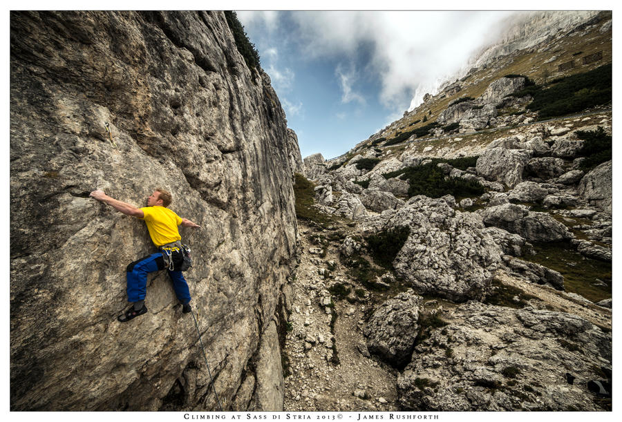 Climbing at Sass di Stria by JamesRushforth
