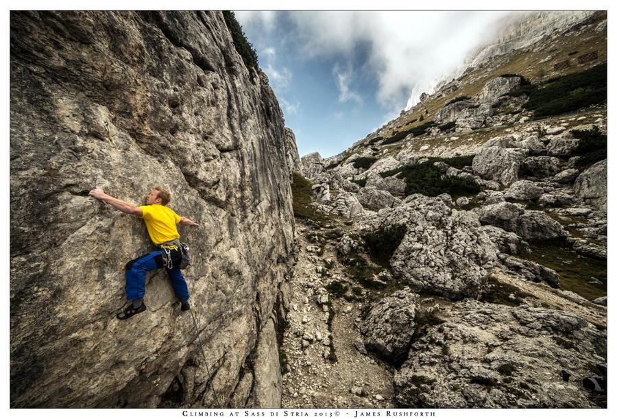 Climbing at Sass di Stria by JamesRushforth