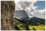 Climbing at Frea, Italian Dolomites
