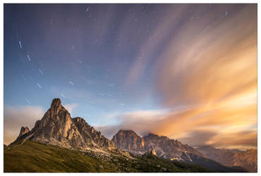 The world turns on the Passo Giau by JamesRushforth