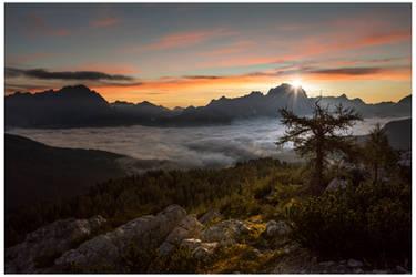 Sunrise over Sorapiss by JamesRushforth