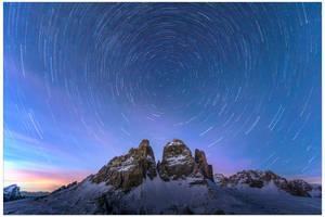 Tre Cime South Face in winter by JamesRushforth