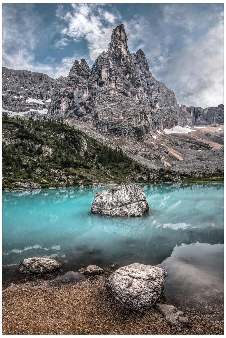 Lago di Sorapiss and Dito di Dio by JamesRushforth