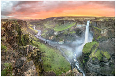 Haifoss Sunset by JamesRushforth