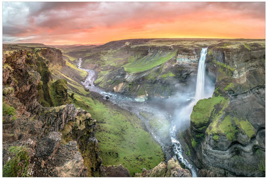Haifoss Sunset