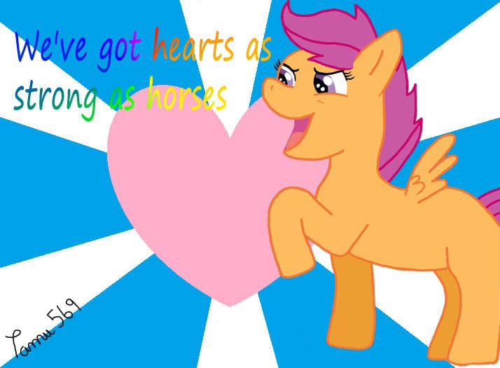 La galería de Kiara Dash - Página 2 Scootaloo_we_ve_got_hearts_as_strong_as_horses_by_tamu569-d8eq7zn