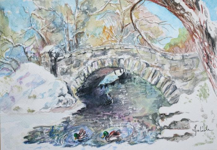 Winter's bridge by danuta50