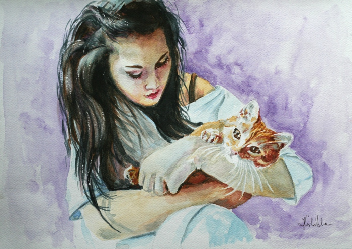 With cat by danuta50