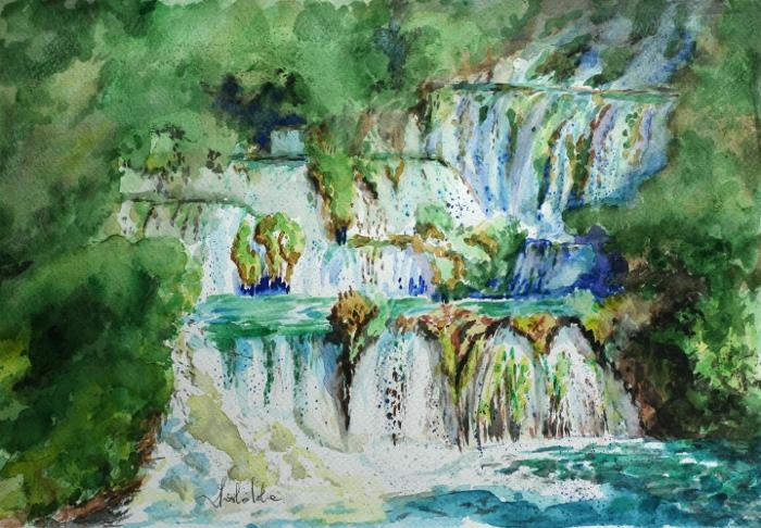 Waterfall on the river Krka by danuta50